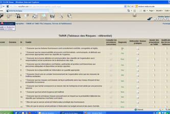 Les documents associés: Exemple de tableau des risques – Référentiel